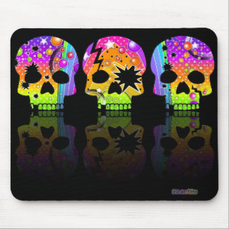Mousepad - POP ART SKULLS