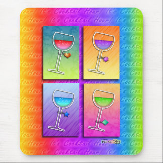 Mousepad - Pop Art Wine