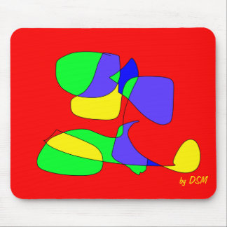 Mousepad, primary colors, design by DSM