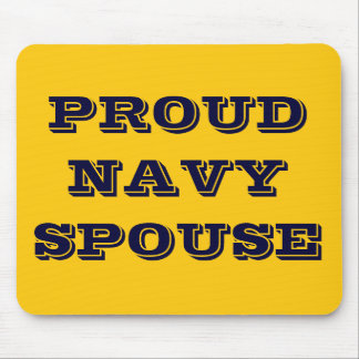 Mousepad Proud Navy Spouse