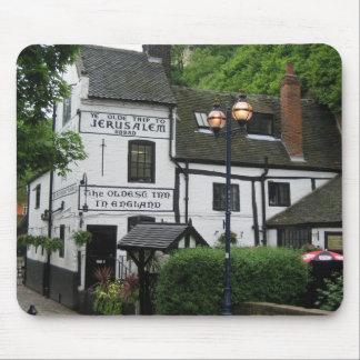 Mousepad: Pub inglés viejo Tapete De Ratones
