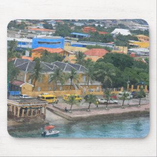 Mousepad, puerto de la isla caribeña tapete de raton