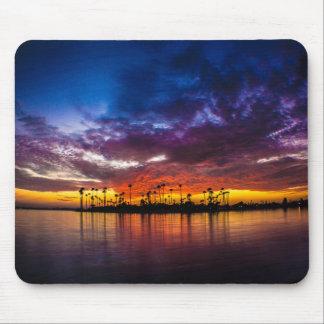 Mousepad - puesta del sol del arco iris de la bahí