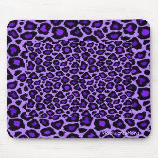 mousepad - purple leopard