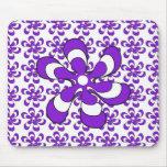 Mousepad Purple Triple Flowers Mousepad