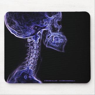 Mousepad púrpura/azul de la radiografía de la C-es Tapetes De Ratones