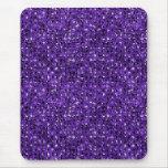 mousepad púrpura del efecto de la lentejuela alfombrillas de raton