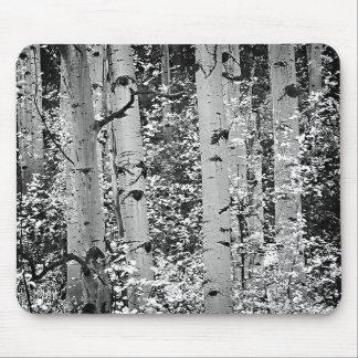 Mousepad que ofrece Aspen blanco y negro hermoso Alfombrillas De Raton