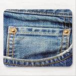 Mousepad raído del bolsillo de los tejanos del dri alfombrillas de raton