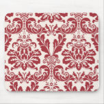 Mousepad...red and white damask