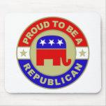 Mousepad republicano orgulloso tapetes de raton