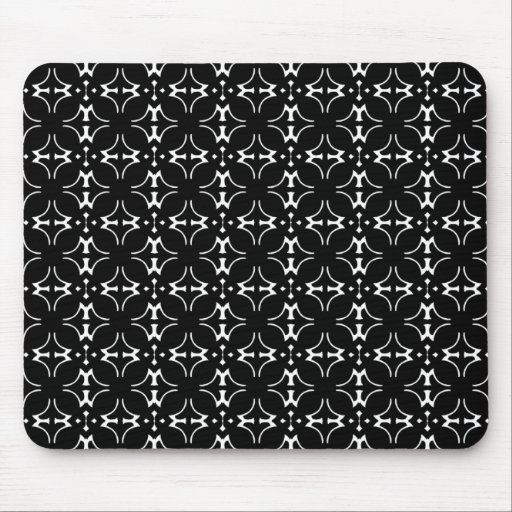 Mousepad retro blanco y negro