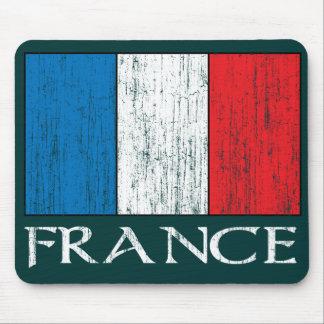 Mousepad retro de la bandera de Francia Alfombrilla De Ratones