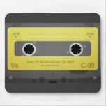 Mousepad retro de la cinta de casete de música alfombrilla de raton
