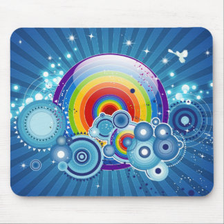 Mousepad retro del arco iris