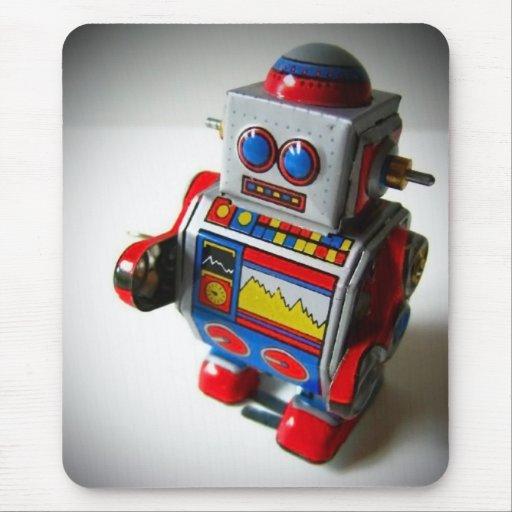 Mousepad retro del robot alfombrilla de ratón