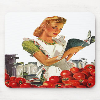 Mousepad ~ Retro Mid-Century Home Canning Tomatoes