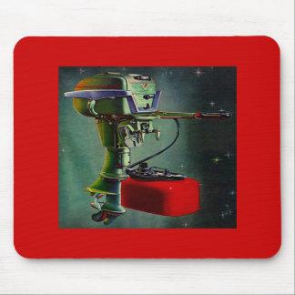 Mousepad Retro Outboard Motor & Red Metal Gas Tank