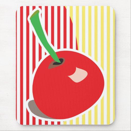 Mousepad rojo de la cereza tapete de raton