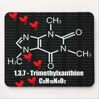 Mousepad rojo de los corazones de Caffiene Tapete De Ratones