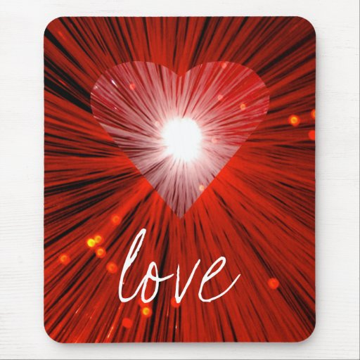 """Mousepad rojo del """"amor"""" del corazón"""