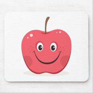 Mousepad rojo del dibujo animado de la manzana alfombrillas de ratón