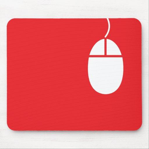 mousepad rojo del icono del ratón alfombrilla de ratón