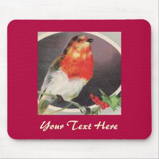 Mousepad rojo del pájaro del día de fiesta tapetes de ratones