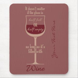 Mousepad rojo del personalizado de la copa de vino
