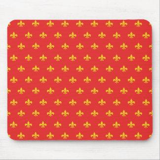 Mousepad rojo francés real alfombrilla de ratón