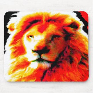Mousepad rojo principal del león alfombrillas de ratones
