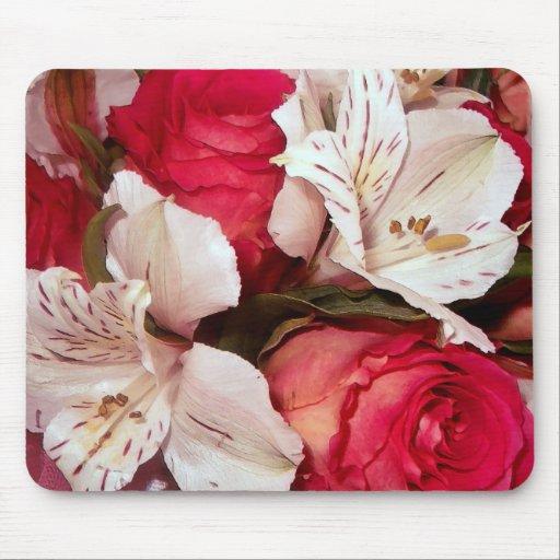 mousepad rojo y blanco de la felicidad