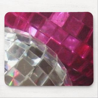 Mousepad rosado de la bola de espejo de las chuche alfombrilla de ratones