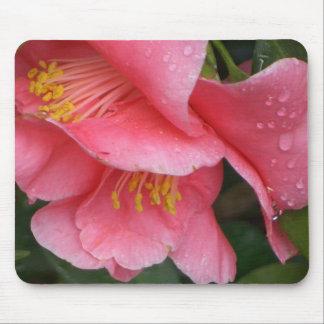 Mousepad rosado de la flor de Camelia del HACHA