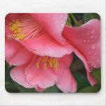 Mousepad rosado de la flor de Camelia del HACHA Tapetes De Ratones