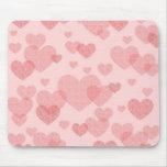 Mousepad rosado de los corazones alfombrilla de ratones