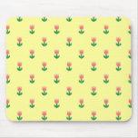 mousepad rosado del modelo de los tulipanes tapete de raton
