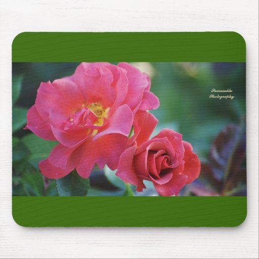 Mousepad rosado oscuro hermoso del rosee tapete de raton