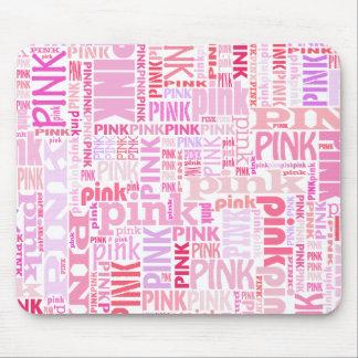 Mousepad rosado para los amantes del rosa alfombrilla de ratón