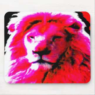 Mousepad rosado principal del león tapete de raton