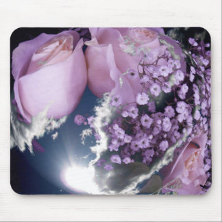 Mousepad rosesinthecloudswithsunsphere
