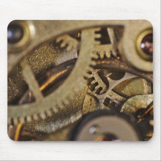MousePad: Ruedas de Tic Tac. Mecanismo del reloj Alfombrillas De Raton