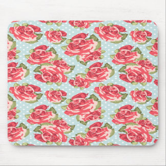 Mousepad Shabby Chic Roses Floral Vintage