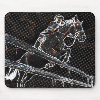 """Mousepad """"show jumping"""" in neon with Techno Dots"""