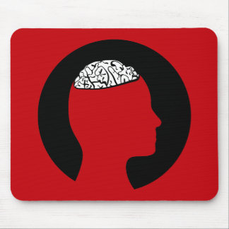 Mousepad   Silhouetted head and brain
