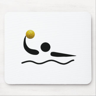 MousePad - símbolo del deporte del water polo Tapetes De Raton