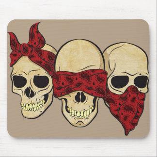 "Mousepad ""Skull (deaf, blind, dumb) """