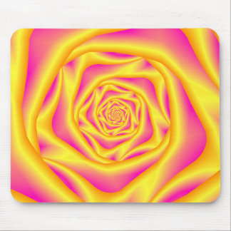 Mousepad   Spiral Rose in Yellow and Pink