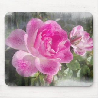 Mousepad subió jardín rosado ornamental tapetes de ratón