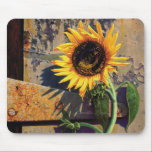 """Mousepad Sunflower Flower Painting Camille Engel<br><div class=""""desc"""">Mousepad &quot;Sunflower at the Old Factory&quot; by Camille Engel</div>"""